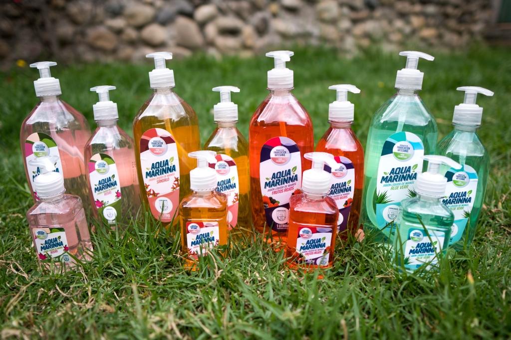 Jabón líquido artesanal Aquamarinna
